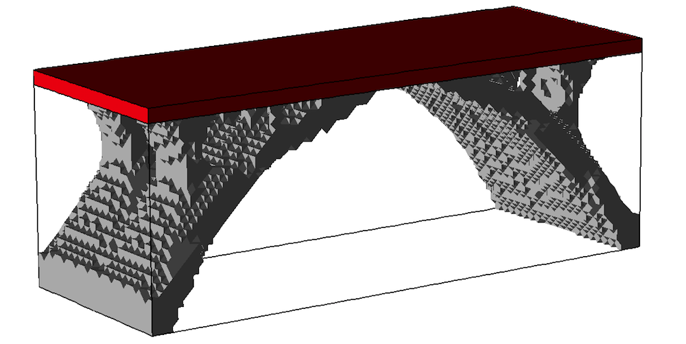 A volume plot produced in COMSOL Multiphysics.