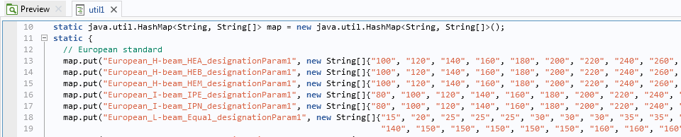 A screenshot of a HashMap table, created using the Application Builder, with string arrays and string inputs.