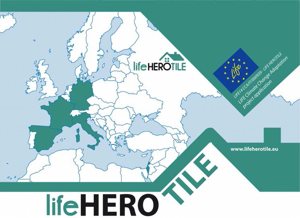 An image of the logo for the Life HEROTILE project.