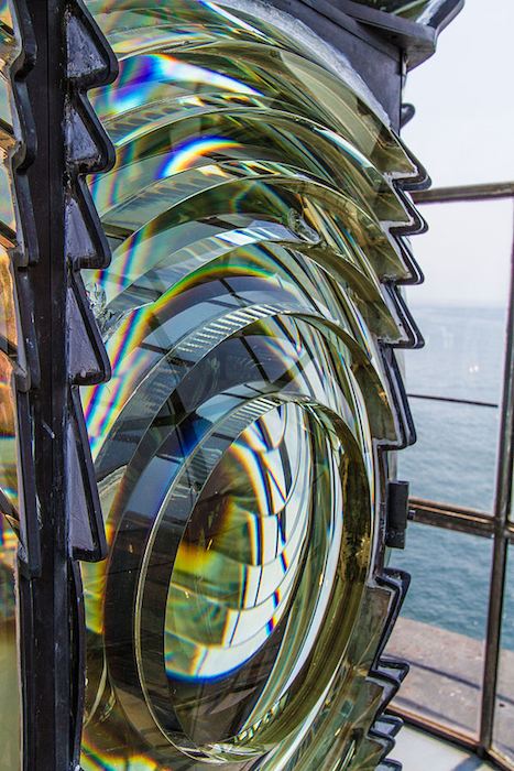 Photo of a Fresnel lens.