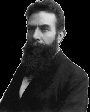 A portrait of Wilhelm Conrad Röntgen.