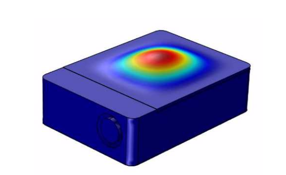 A COMSOL Multiphysics model of the first cap mode.