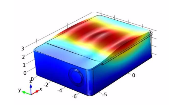 A COMSOL Multiphysics model of the first package mode.
