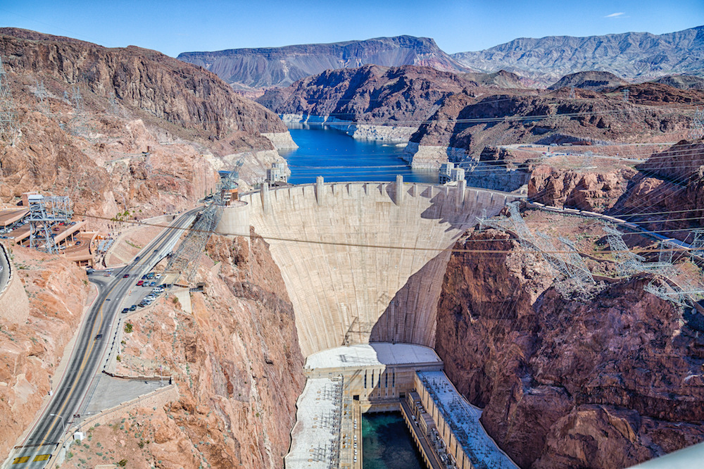 A photograph of the Hoover Dam.