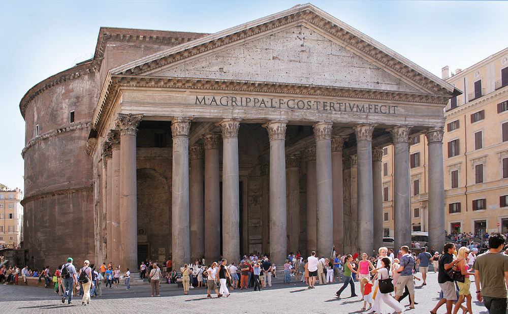 A photograph of the Pantheon.