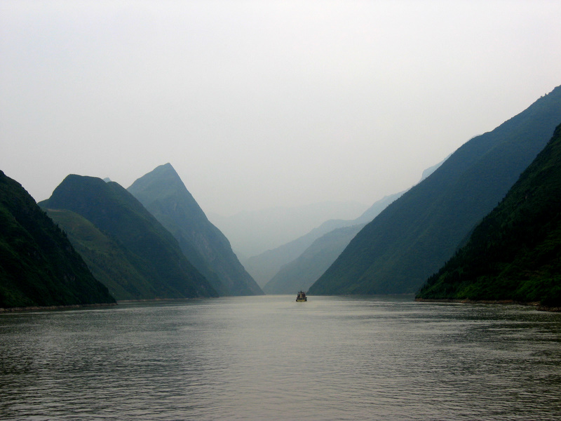 A photograph of the Yangtze River in China.