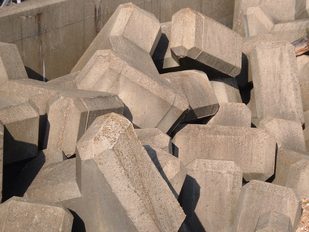 A photograph of concrete blocks.