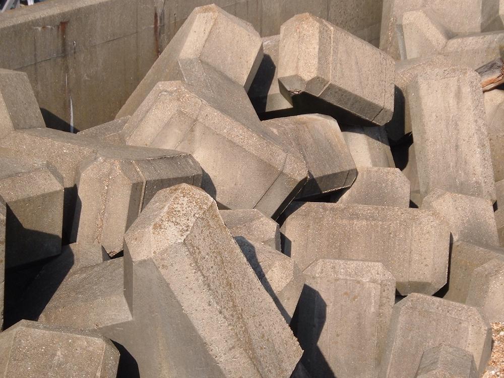 A photograph of concrete blocks.