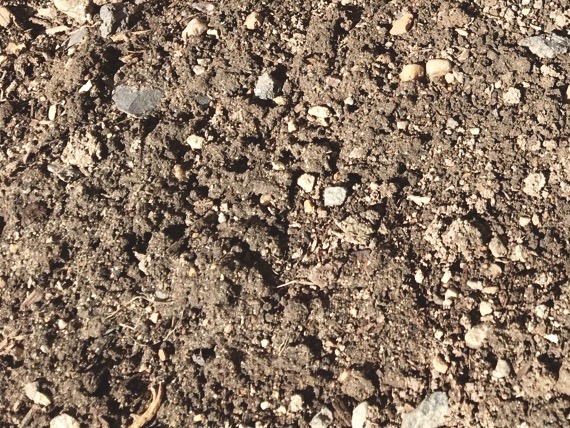 A photograph of frozen soil.