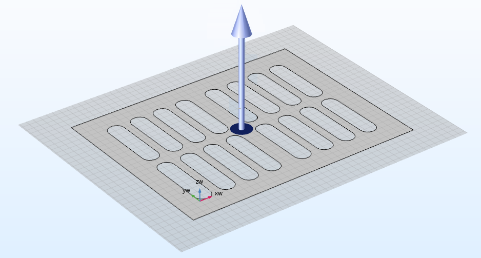A demonstration of using the Extrude operation in COMSOL Multiphysics.