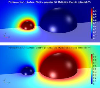 Capacitance matrix model solutions COMSOL Multiphysics featured