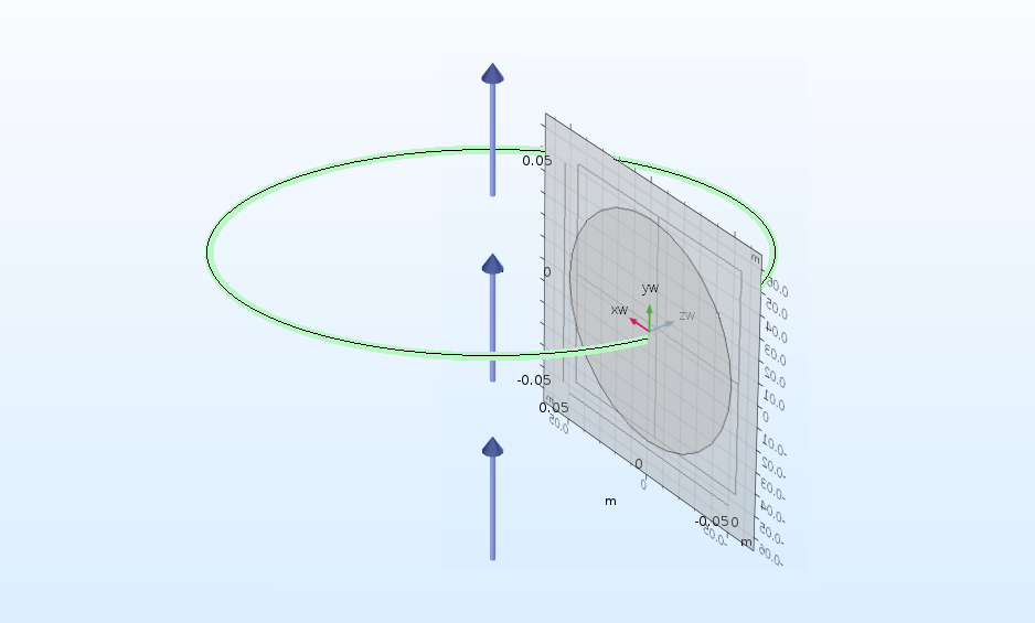 An example of using the Revolve operation in COMSOL Multiphysics.
