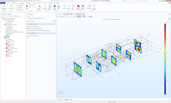 micromixer model COMSOL GUI featured