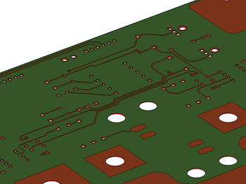 two-layer printed circuit board design featured