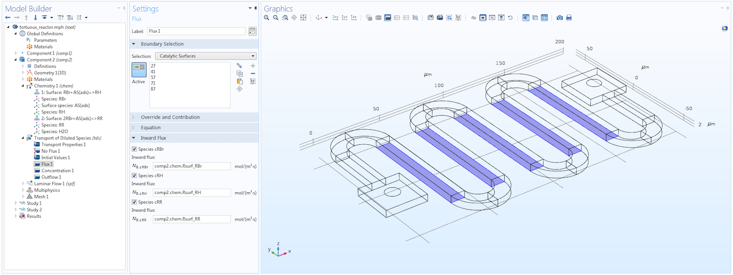 Introduction to Modeling Surface Reactions in COMSOL