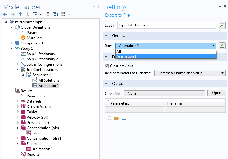 A screenshot showing the Export to File Settings window.
