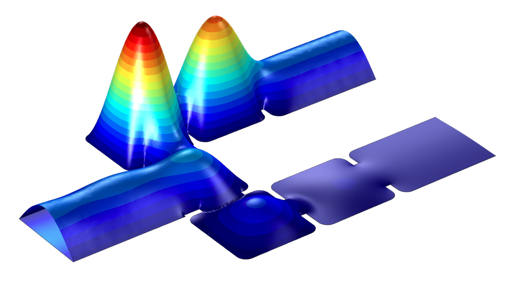 An EM simulation of a diplexer millimeter-wave frequency device.
