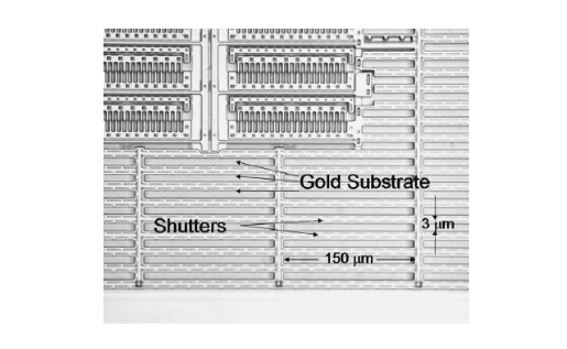 A microscopic image of a shutter radiator design.