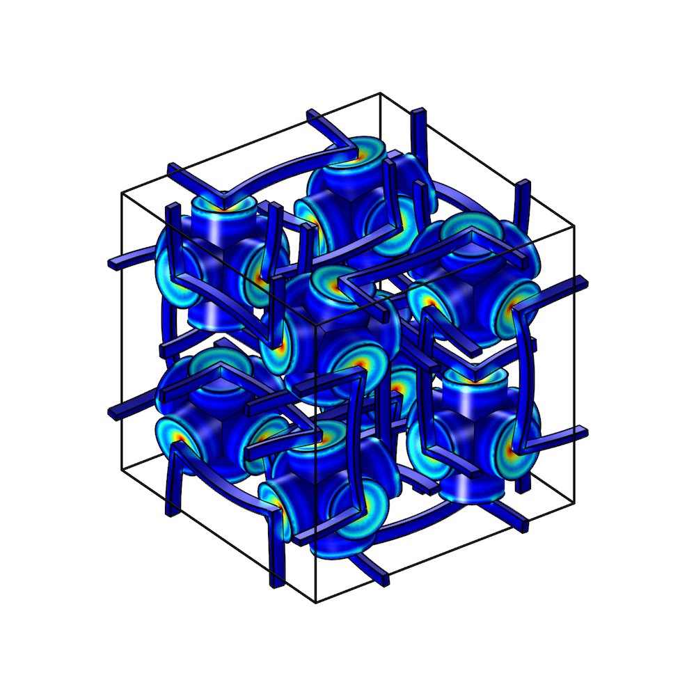 An image of the poroelastic metamaterial's structure.