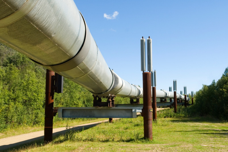A photo of a pipeline.