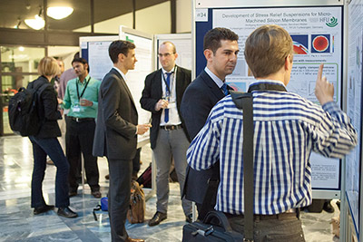 A photo of the presented posters at a COMSOL Conference.