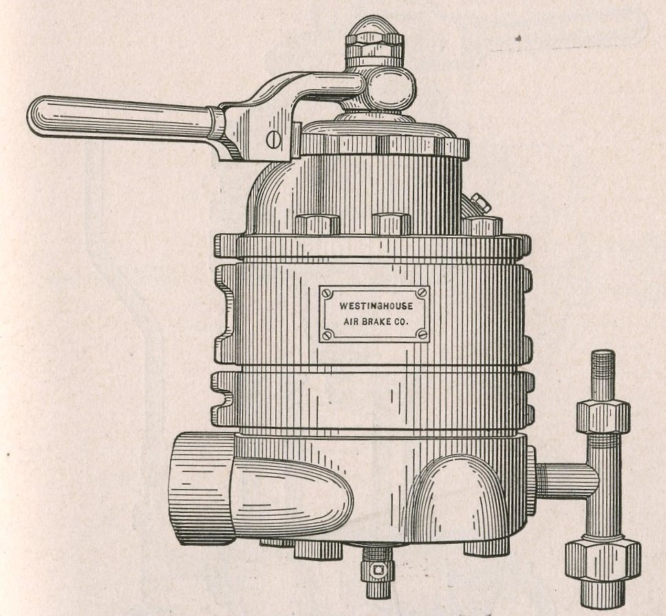 A sketch of the Westinghouse air brake design.