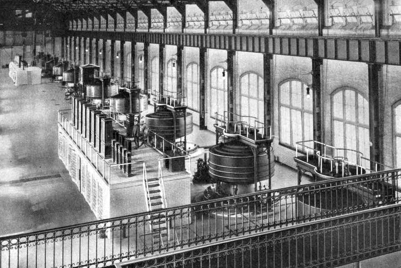 A photo of Westinghouse's Niagara Falls generators.