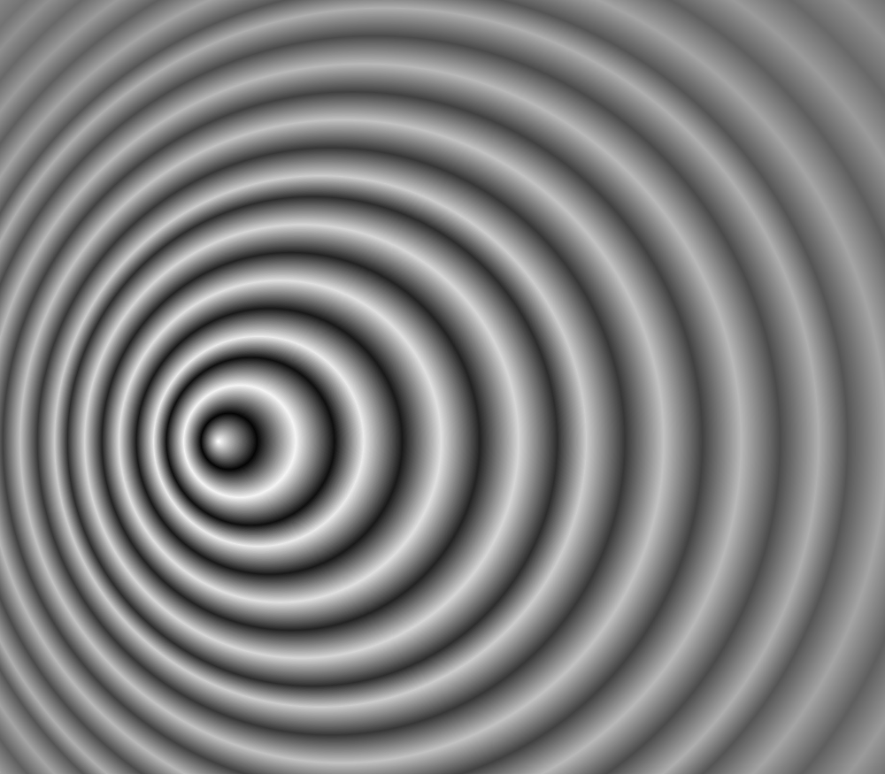 An image that visually represents the Doppler effect.