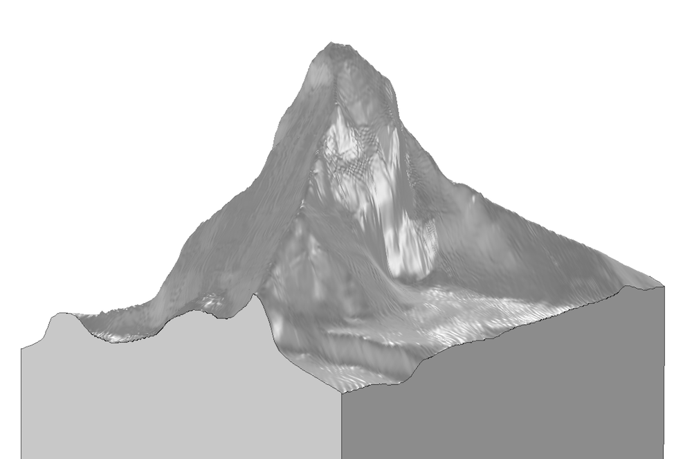 The final geometry of the Matterhorn based on an image.