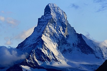 A photo of the Matterhorn mountain.