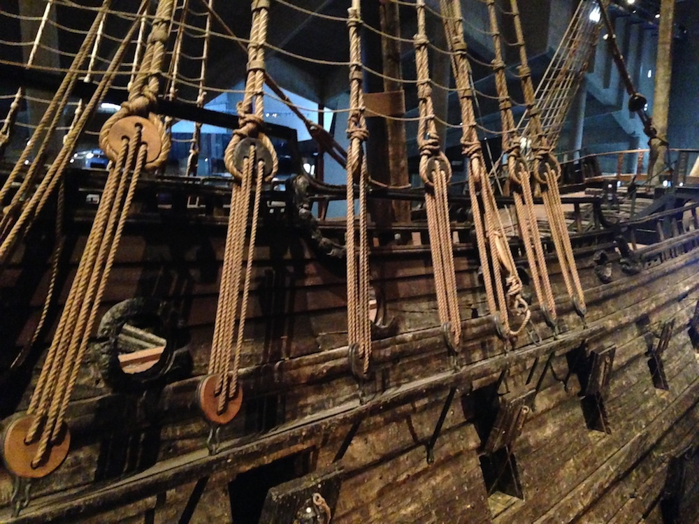 A close-up photo of the Vasa Ship.