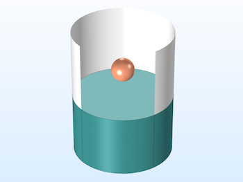COMSOL Multiphysics model of a model of a sphere falling on a water surface copy