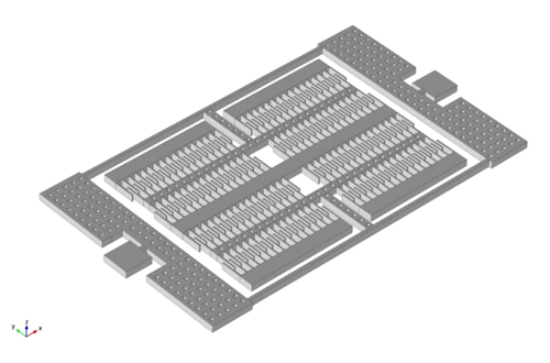 An image of the DETF strain gauge with labeled parts.