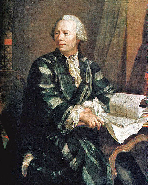 A painting of Leonhard Euler.