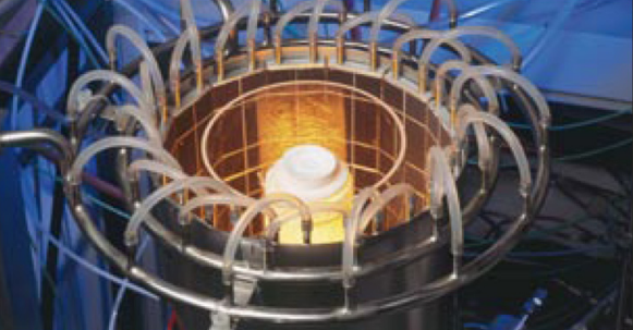A photograph of a TPV system prototype.