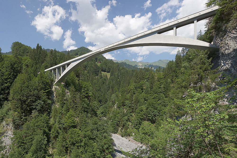 A photo of the Salginatobel Bridge.