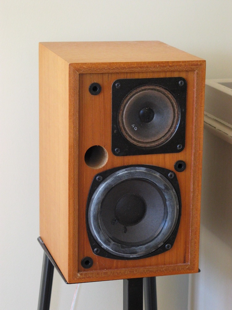 A photo of a 1980s loudspeaker without a grille.
