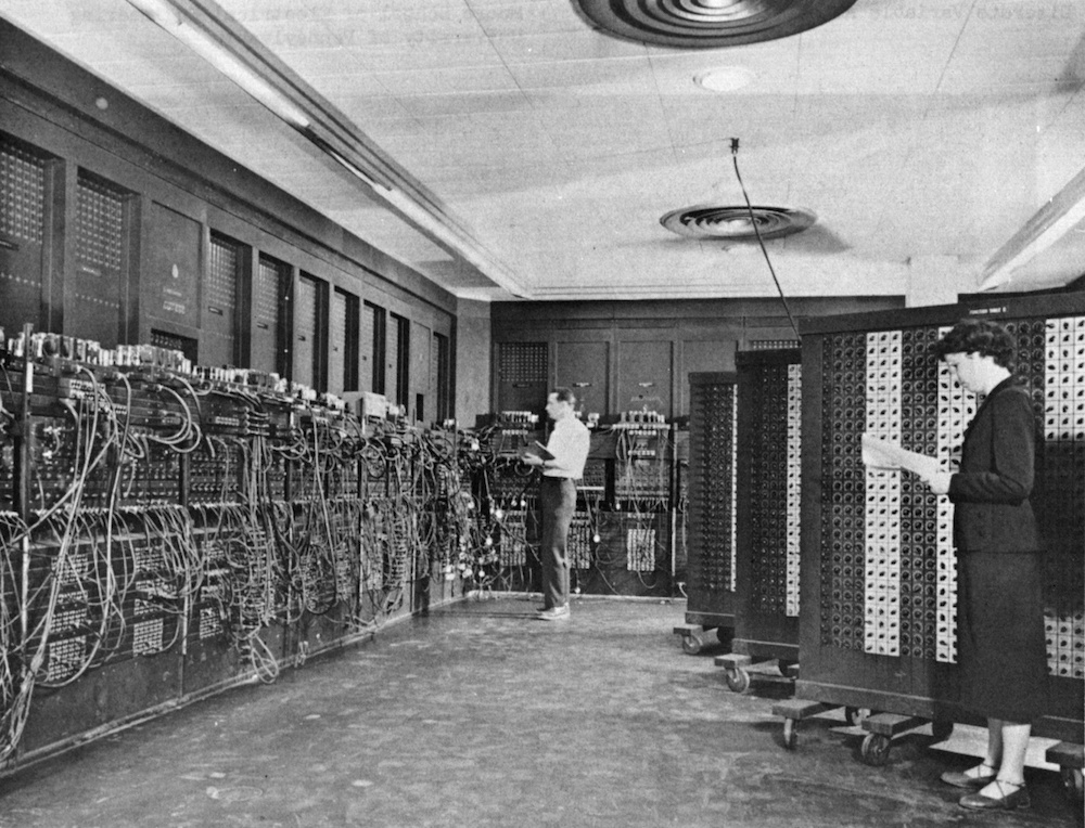 A photo of ENIAC.