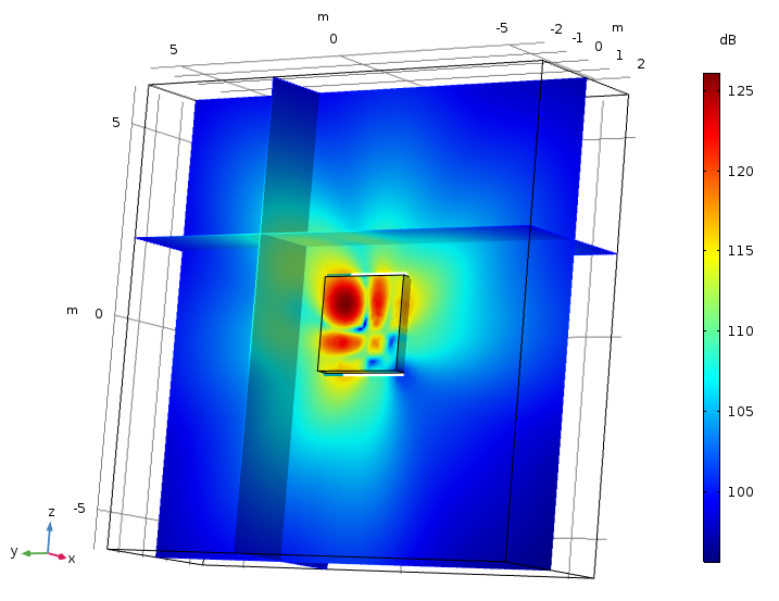 An image showing a Bessel panel modeled using the boundary element method.