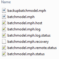 A list of files created during the cluster job.