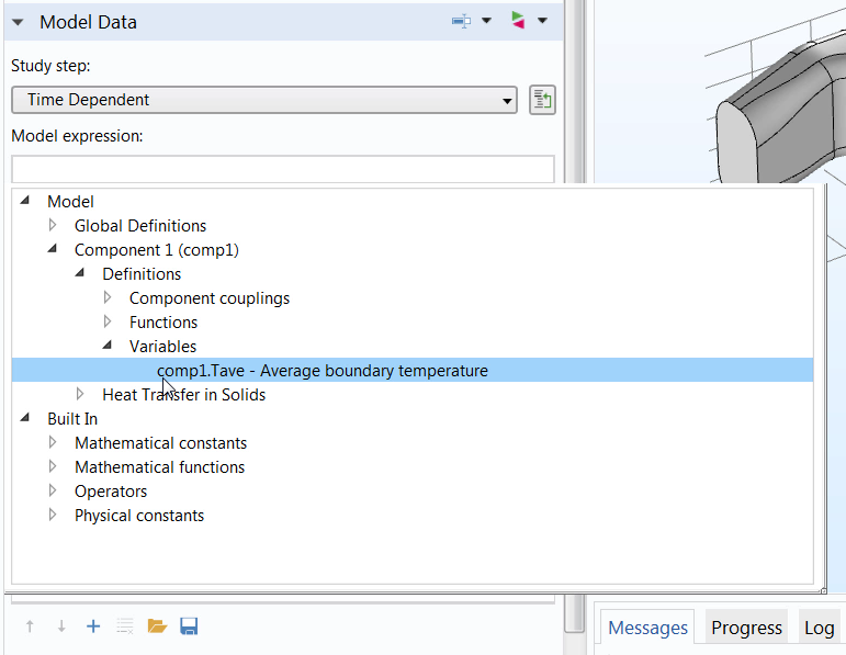 A screenshot highlighting the use of the Auto Completion feature in COMSOL Multiphysics®.