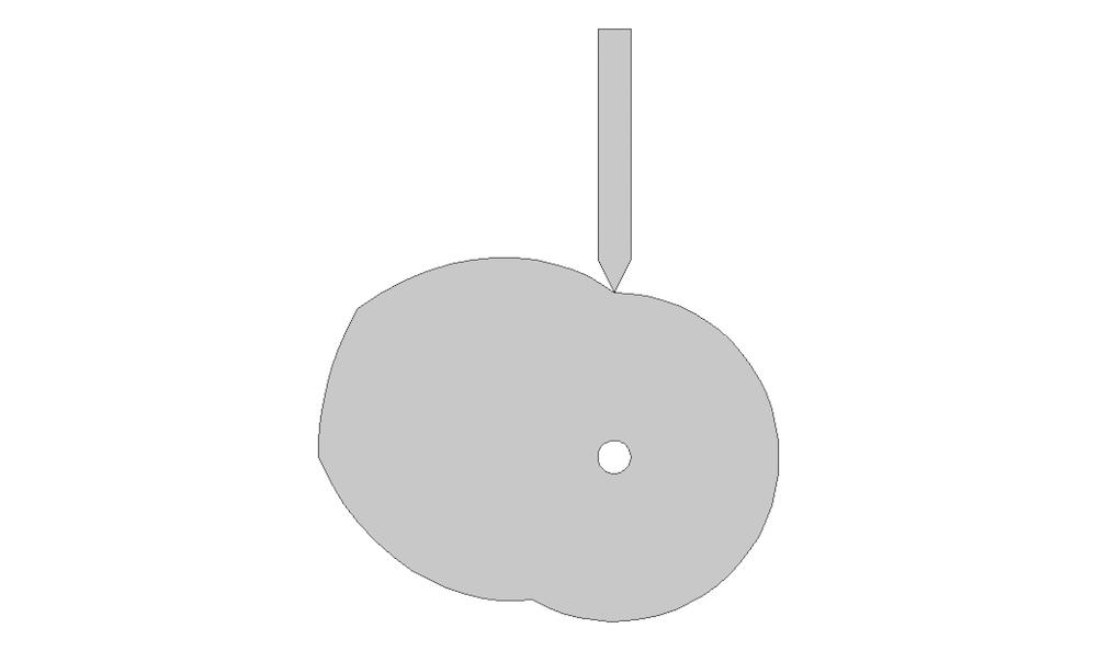 The cam profile.