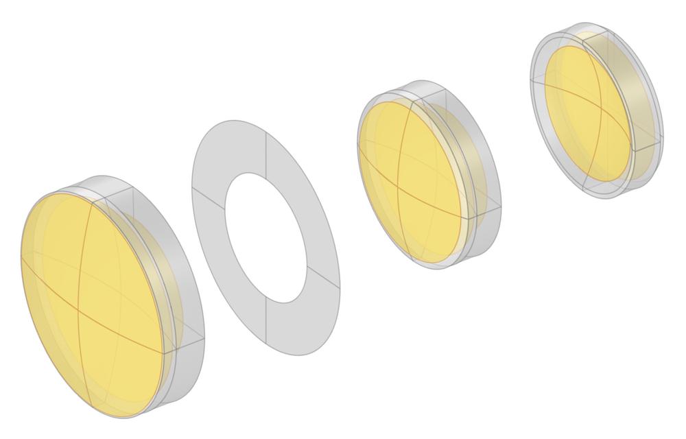 图片突出显示用于定义 Petzval 透镜通光孔径的选择。
