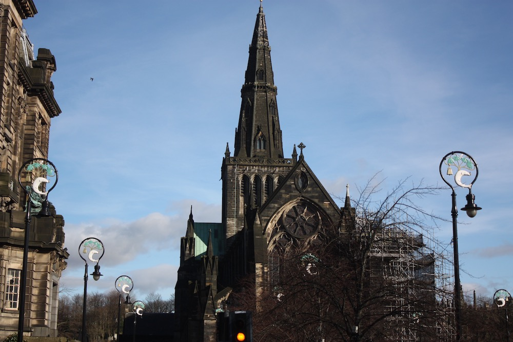 A photo of a church in Glasgow, Scotland.
