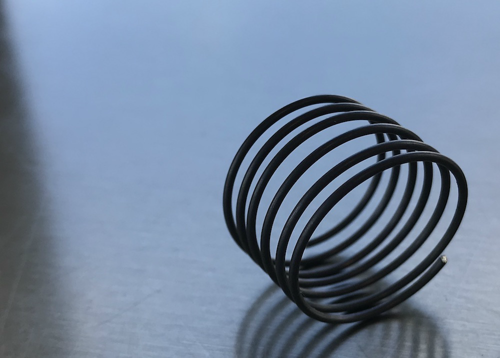 A photograph of a typical helical spring.