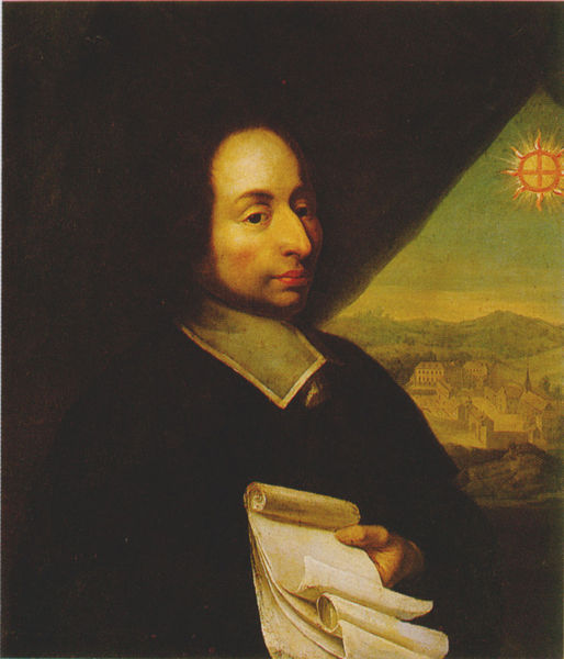 A portrait of mathematician Blaise Pascal.