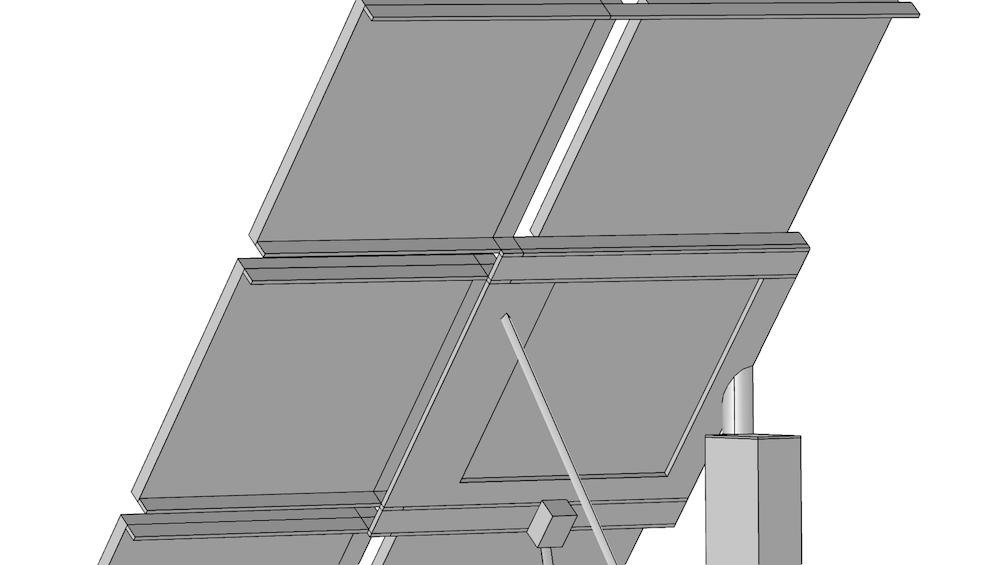 部分分割的太阳能电池板几何结构。