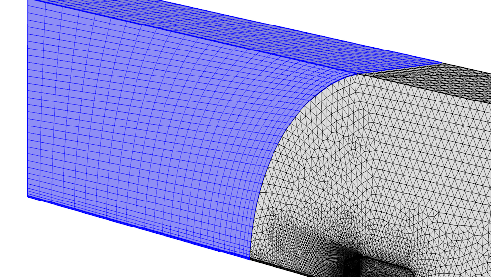 An example of a swept mesh.