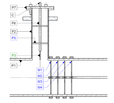 A schematic of a lab test rig for studying electrostatic filter designs.