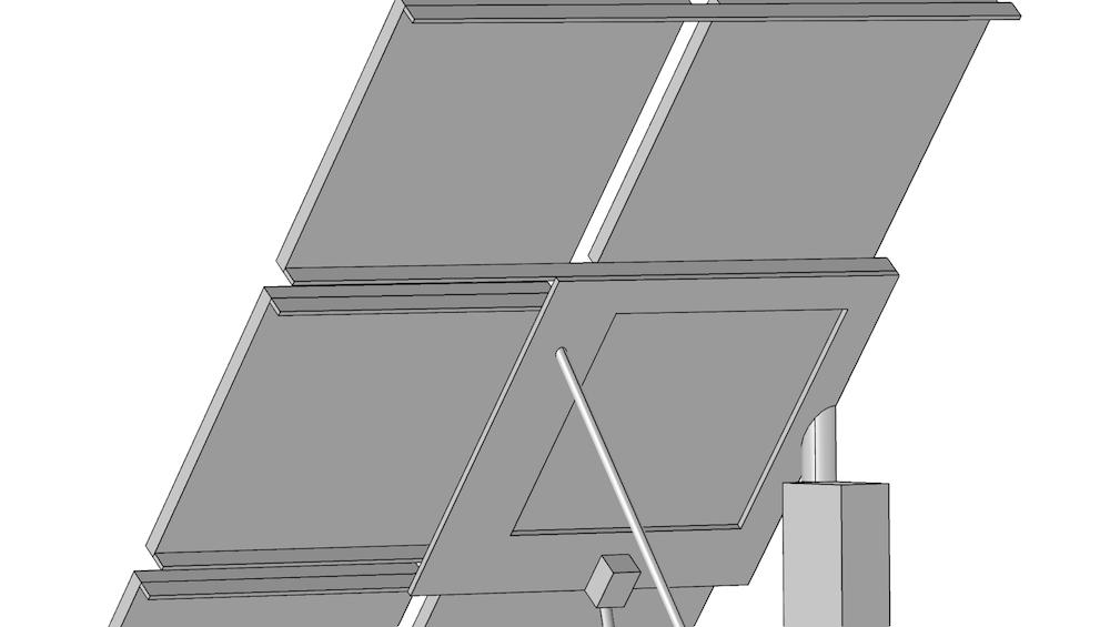 太阳能电池板几何结构。